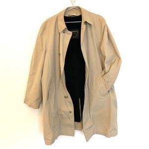 🔥VTG London Fog Trench Coat M Maincoats Zip linin